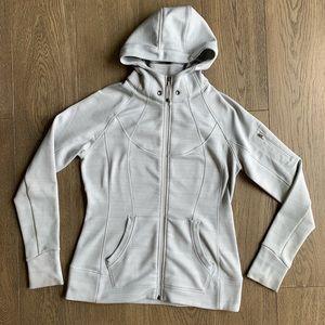 Athleta silver gray zip up jacket